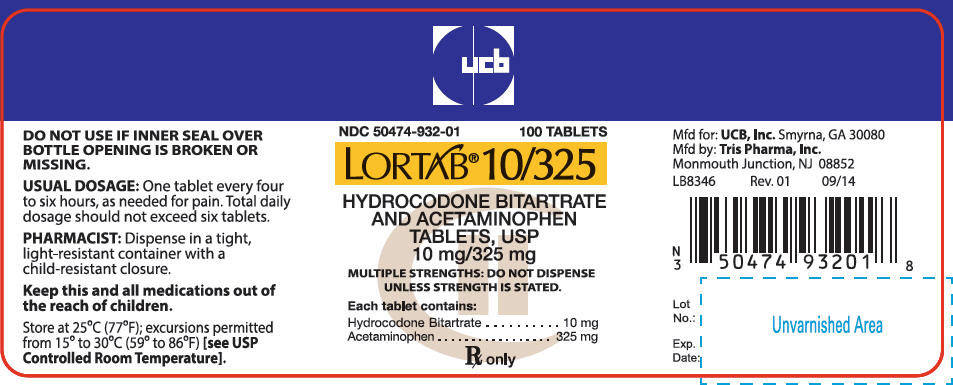 Lortab - FDA prescribing information, side effects and uses