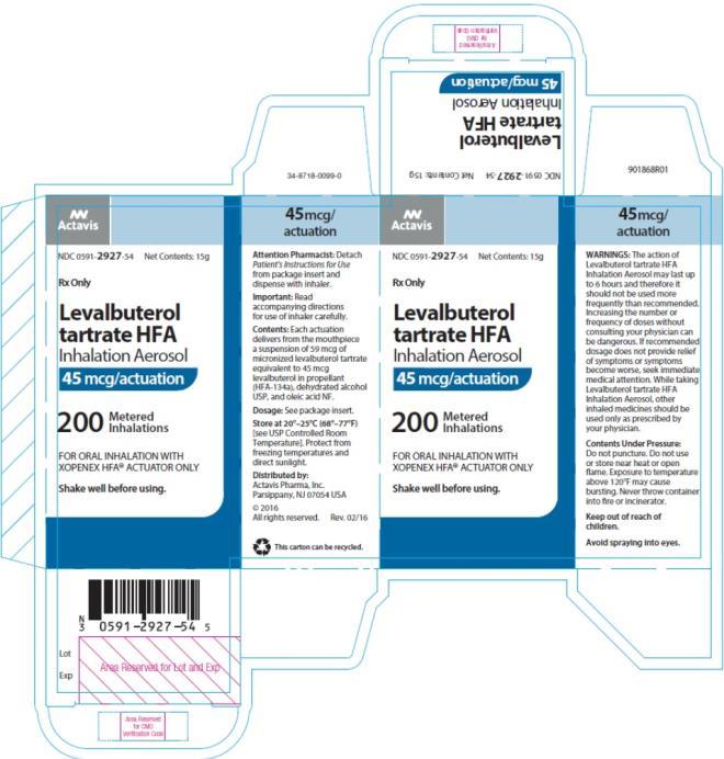 levalbuterol hfa aerosol fda prescribing information
