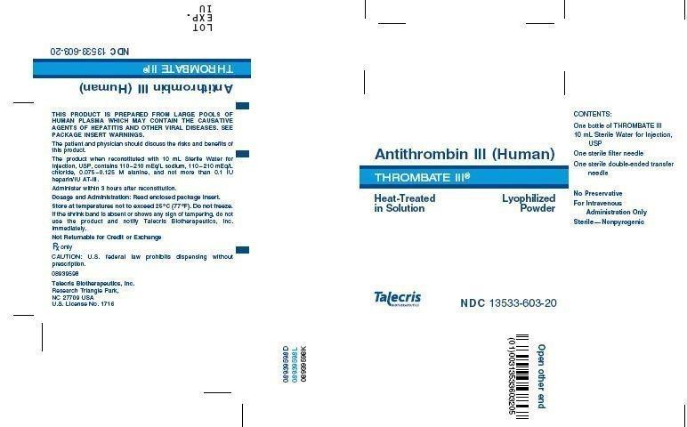 Thrombate III - FDA prescribing information, side effects