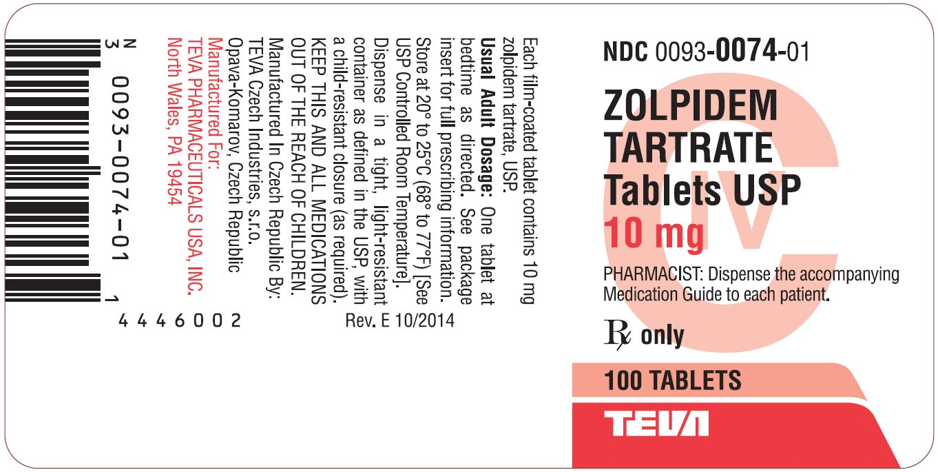 zolpidem tartrate tablet side effects