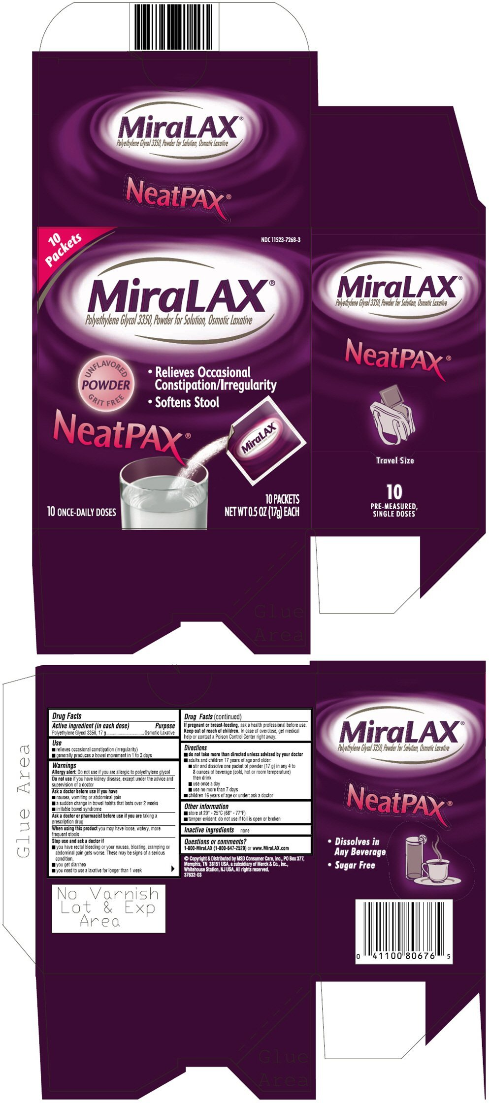MiraLAX - FDA prescribing information, side effects and uses