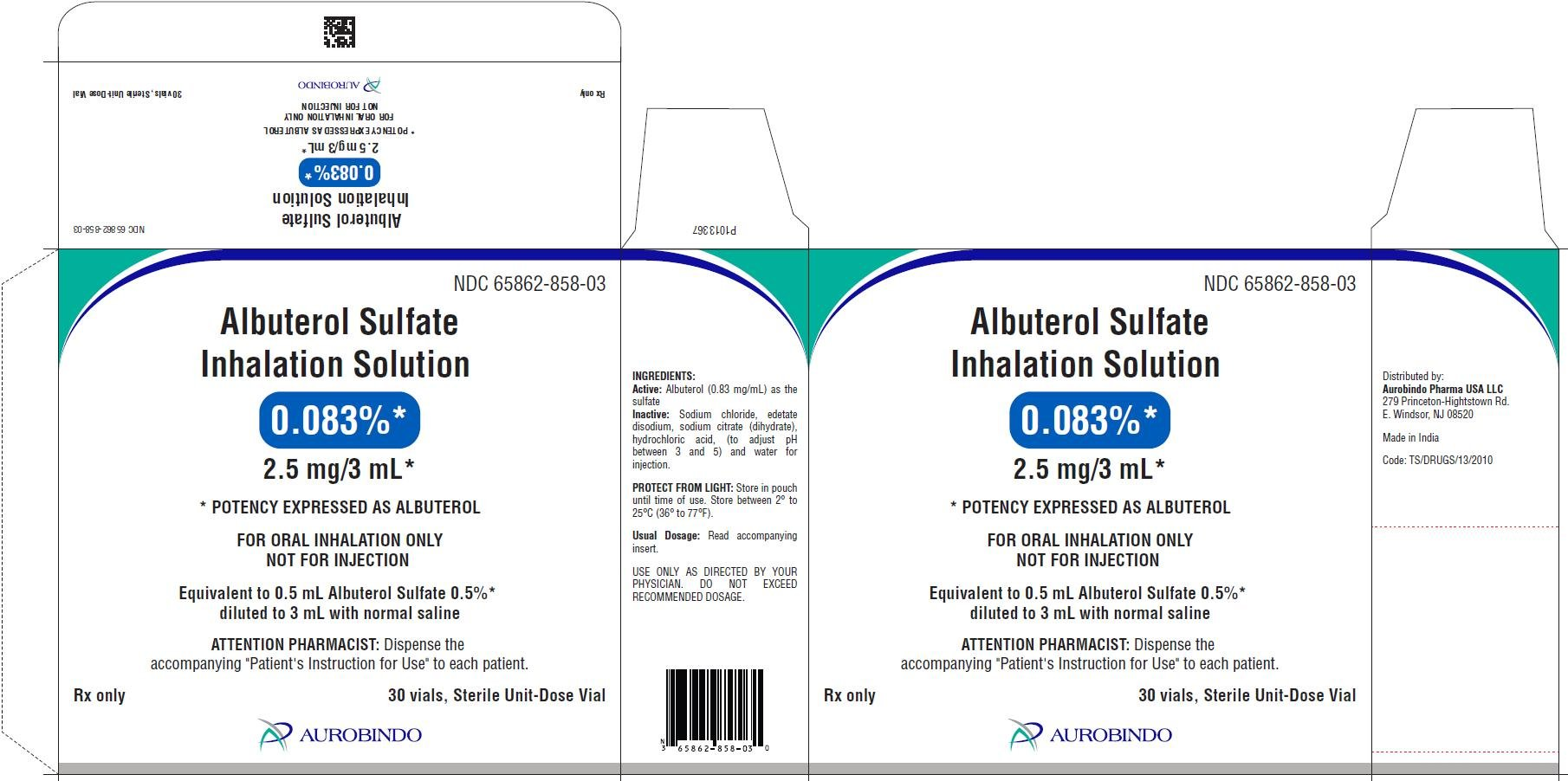 Albuterol Inhalation Solution Fda Prescribing Information Side