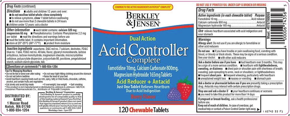 Berkley And Jensen Acid Controller Complete Fda