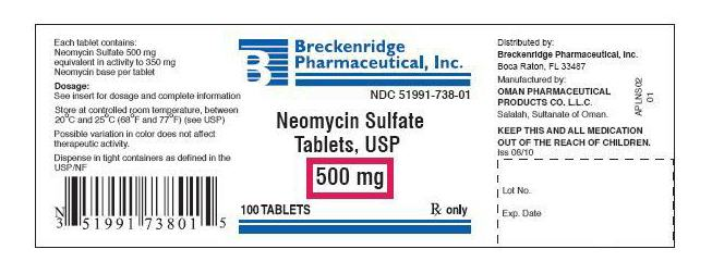 Neomycin Sulfate - FDA prescribing information, side
