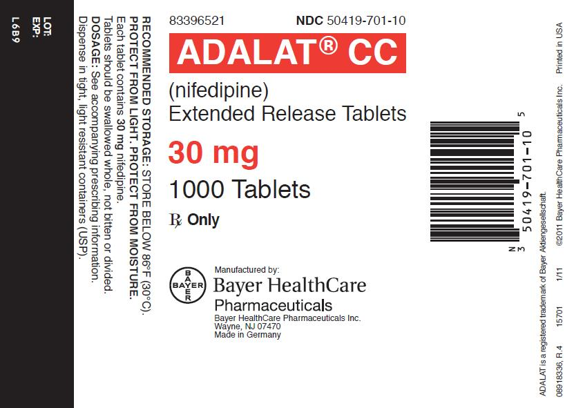 Adalat CC - FDA prescribing information, side effects and uses